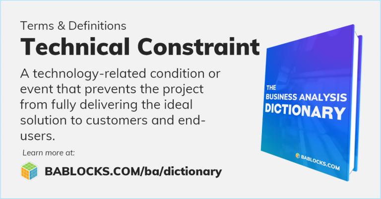 Technical Constraint